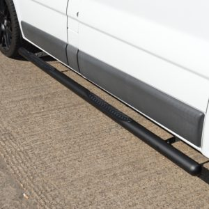 Vauxhall Vivaro Matt Black Vulcan Side Steps With Footplates (LWB L2)