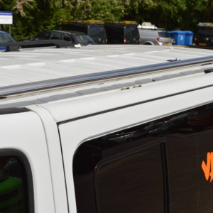 Vauxhall Vivaro x82 Mirror Polished Stainless Steel Roof Bars SWB