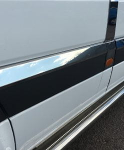 Mercedes Sprinter Stainless Steel Chrome Side Door Streamers (10 Piece) LWB