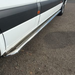 VW Crafter Apollo Stainless Steel Polished Side Steps (LWB L3)