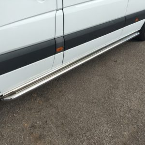 Mercedes Sprinter Apollo Stainless Steel Polished Side Steps (MWB L2)