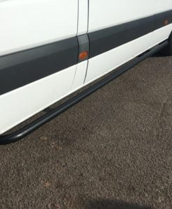 Volkswagen Crafter Matt Black Sportline Side Bars (L3 LWB)