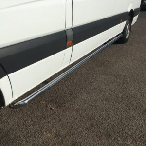 Mercedes Sprinter Stainless Steel Sportline Side Bars (L3 LWB)