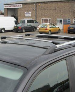 Vauxhall Vivaro Cross Bars Set 2015/> Satin Black Fits Roof Rails