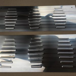 Ford Transit Stainless Steel Chrome Door Sill Covers (2 piece) 2014>