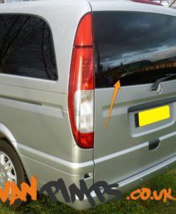Mercedes Vito Tailgate Window in Privacy Tint