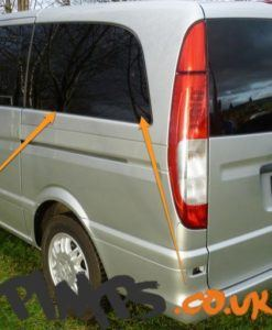 Mercedes Vito N/S/R Fixed Window in Privacy Tint Extra LWB