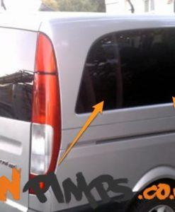 Mercedes Vito O/S/R Fixed Window in Privacy Tint SWB (Compact)