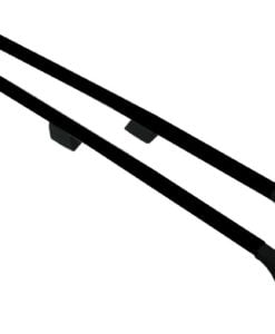 Vauxhall Vivaro Black Aluminium Roof Rails and Cross Bars Set (LWB)