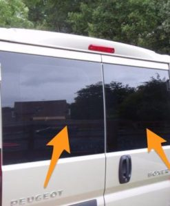 Citroen Relay Back Door Glass (pair of windows) In Privacy Tint