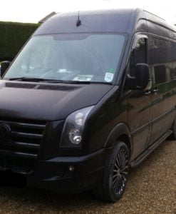 Volkswagen Crafter Fox Running Boards / Side Steps - Black Aluminium (SWB L1)