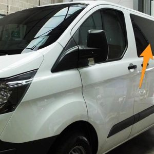 Ford Transit Custom N/S/F Fixed Window in Privacy Tint