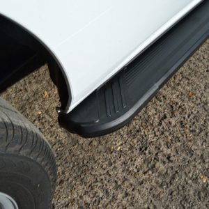 Transit Custom Running Boards / Side Steps - Black Aluminium (SWB L1)