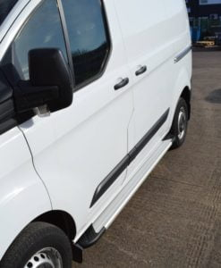 Transit Custom Running Boards / Side Steps - Aluminium (LWB L2)