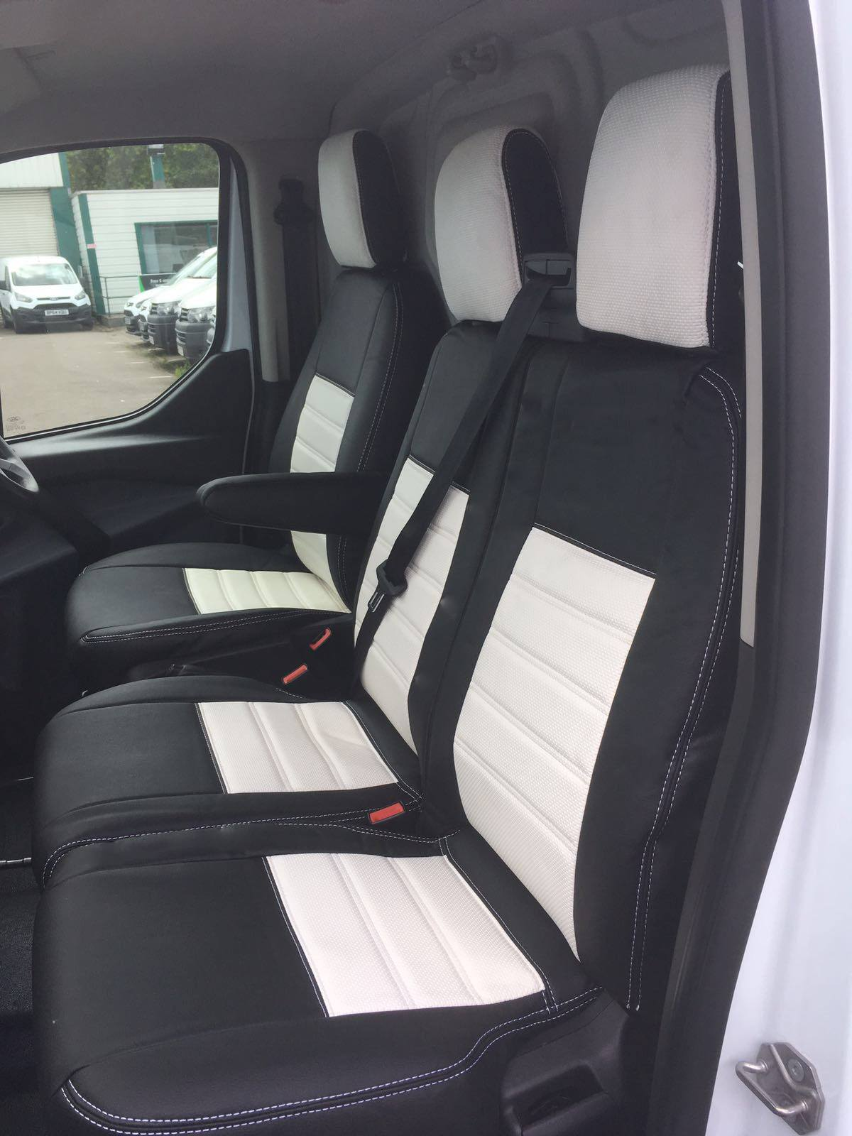 ford transit custom seat covers white vanpimps. Black Bedroom Furniture Sets. Home Design Ideas