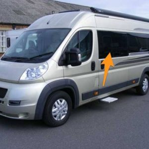 Citroen Relay N/S/F Sliding Window in Privacy Tint (MWB/LWB/Extra LWB)