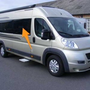 CLEARANCE Ducato/Boxer/Relay O/S/F Sliding Window in Privacy Tint (MWB/LWB/Extra LWB) - Dimples & Blemish