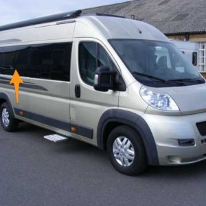 Peugeot Boxer O/S/M Fixed Window in Privacy Tint LWB (L3)