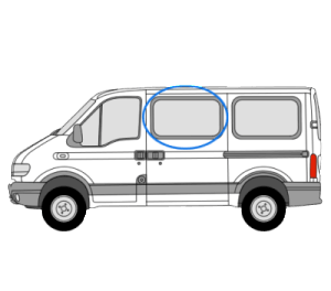 Renault Master 1997 > 2010 N/S/F Opener Window in Privacy Tint (SWB,MWB,LWB)