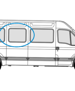 Renault Master 1997 > 2010 O/S/M Fixed Window in Privacy Tint (LWB)