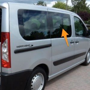 Fiat Scudo O/S/F Opening Window in Privacy Tint