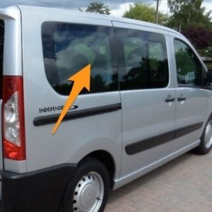 Toyota Proace O/S/R Fixed Window in Privacy Tint (LWB)