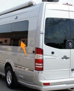 Mercedes Sprinter N/S/R Fixed Window In Privacy Tint LWB