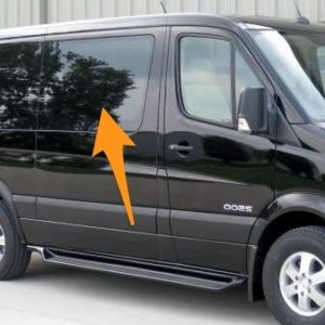 Mercedes Sprinter (SWB) Pair Of Privacy Tinted Opening Windows With FREE Fitting Kit Worth Over £50.00