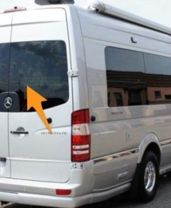 Mercedes Sprinter Back Door Pair Glass In Privacy Tint