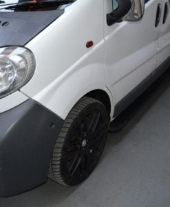 Renault Trafic Fox Running Boards / Side Steps - Black Aluminium (LWB L2)