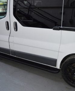Nissan Primastar Fox Running Boards / Side Steps - Black Aluminium (LWB L2)