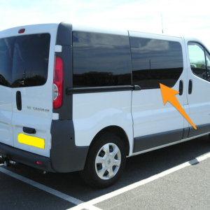 Renault Trafic O/S/F Fixed Window in Privacy Tint *FOR SLIDING DOOR - RARE*