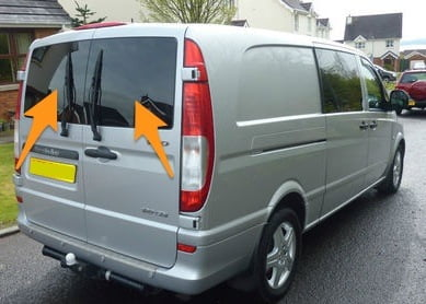 Mercedes Vito Twin Rear Door in Privacy Tint