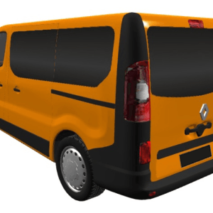 Renault Trafic 2014 (x82) Full Set Of Privacy Tinted Windows With FREE Fitting Kit Worth Over £150.00