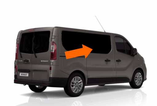 CLEARANCE Trafic/Vivaro/Primastar 2014 X82 O/S/F Opening Window in Privacy Tint - Scratched